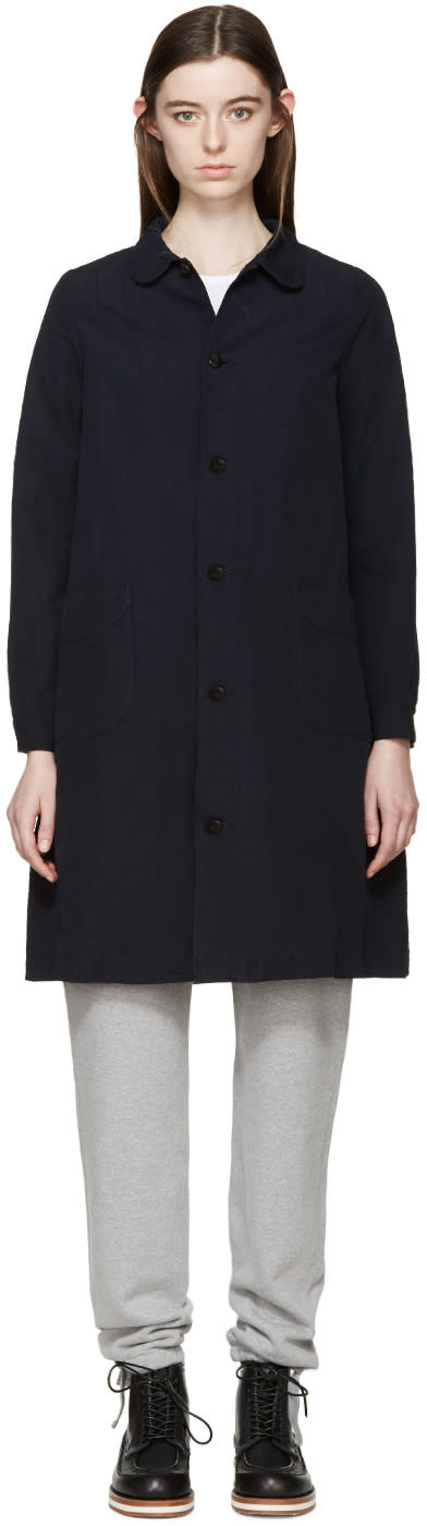 Visvim Navy Linen Impressionist Coat