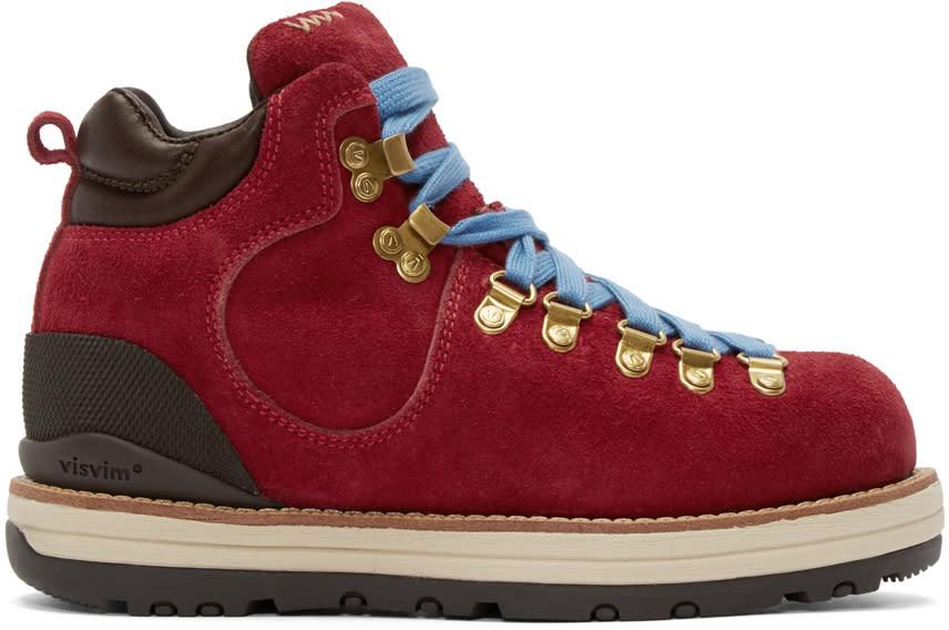 Visvim Red Suede Serra Boots