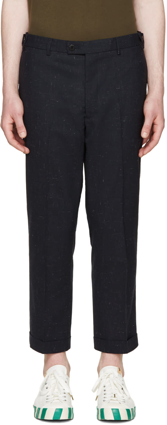 Visvim Navy Wool Trousers