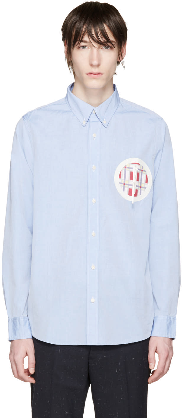 Visvim Blue Embroidered Pocket Shirt