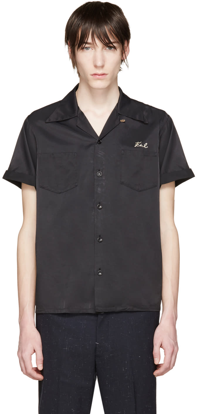 Visvim Black Embroidered Irwing Shirt