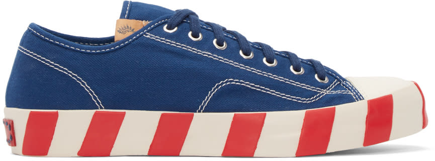 Visvim Blue Skagway Lo Stripes Sneakers
