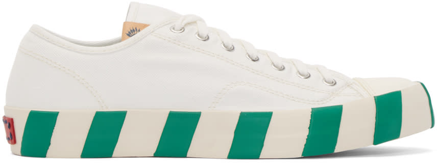 Visvim White Skagway Lo Stripes Sneakers