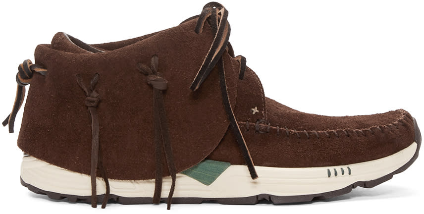 Visvim Brown Fbt Prime Mocassins