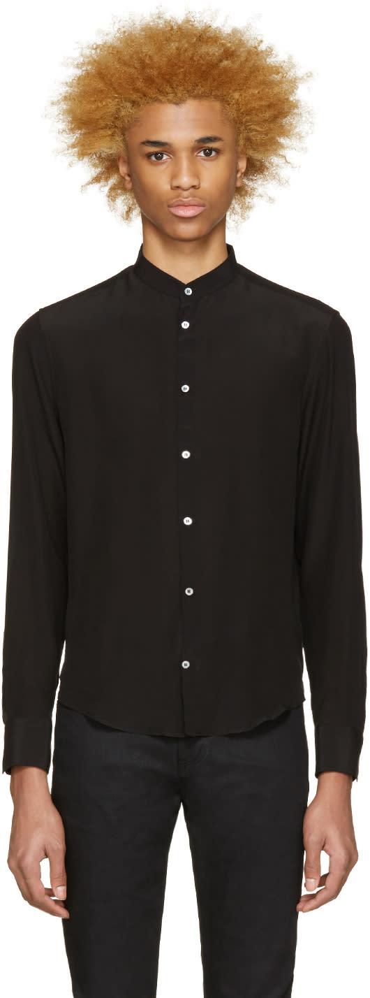Costume National Black Crepe De Chine Shirt
