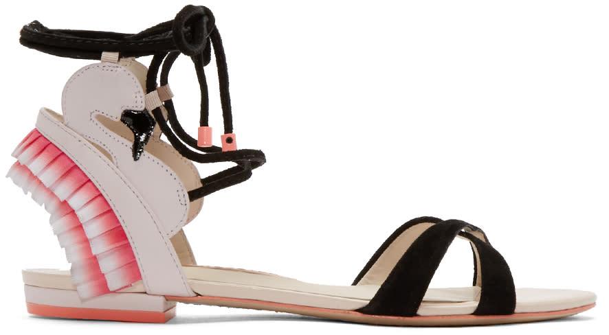 Sophia Webster Pink Flamingo Frill Sandals