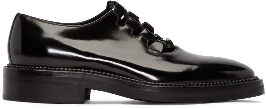 Yang Li Black Patent Leather Ghillie Derbys
