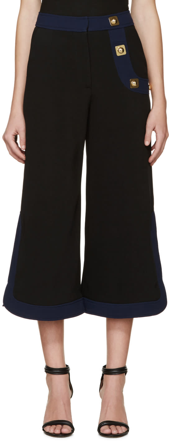 Peter Pilotto Black Crepe Korl Trousers