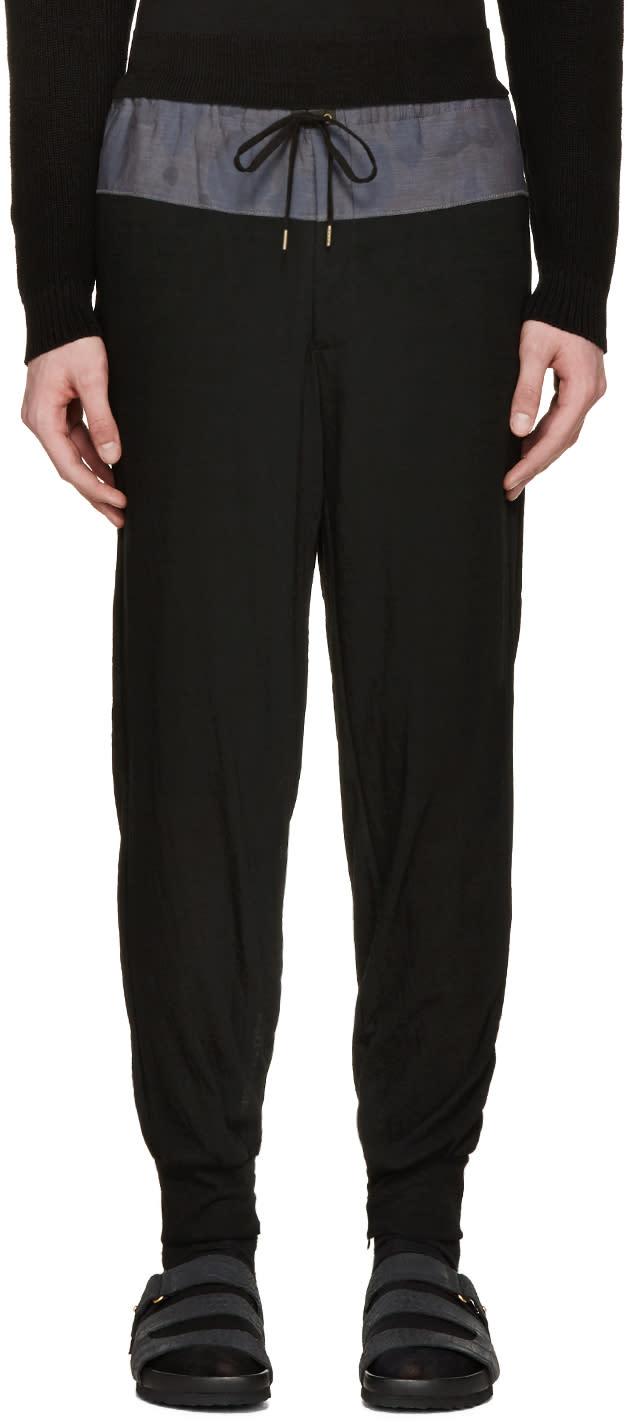 Image of Kolor Black Contrast Lounge Pants