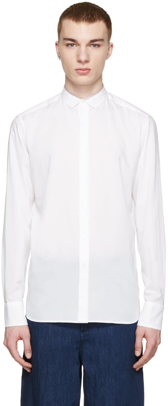 Kolor White Collar Detail Shirt