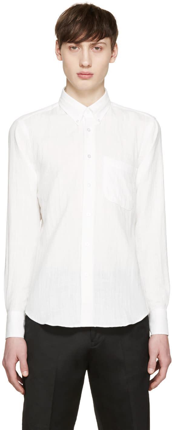 Naked and Famous Denim White Regular Shirt