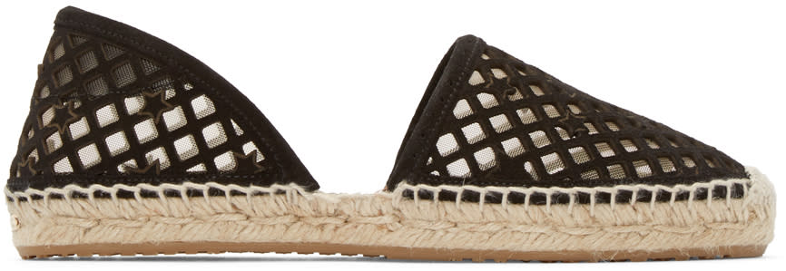 Jimmy Choo Black Cut-out Dreya Espadrilles