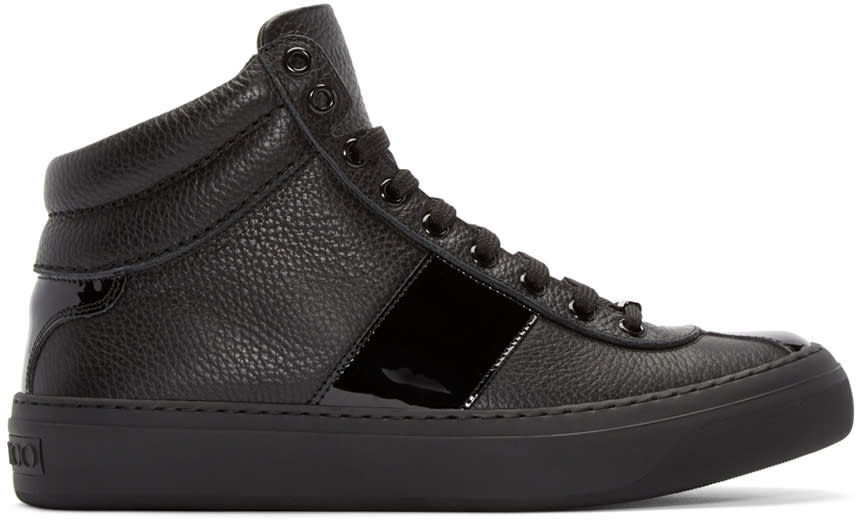 Jimmy Choo Black Belgravi High-top Sneakers