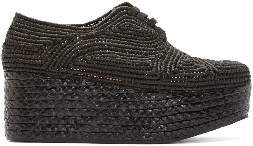 Robert Clergerie Black Platform Raffia Pinto Shoes