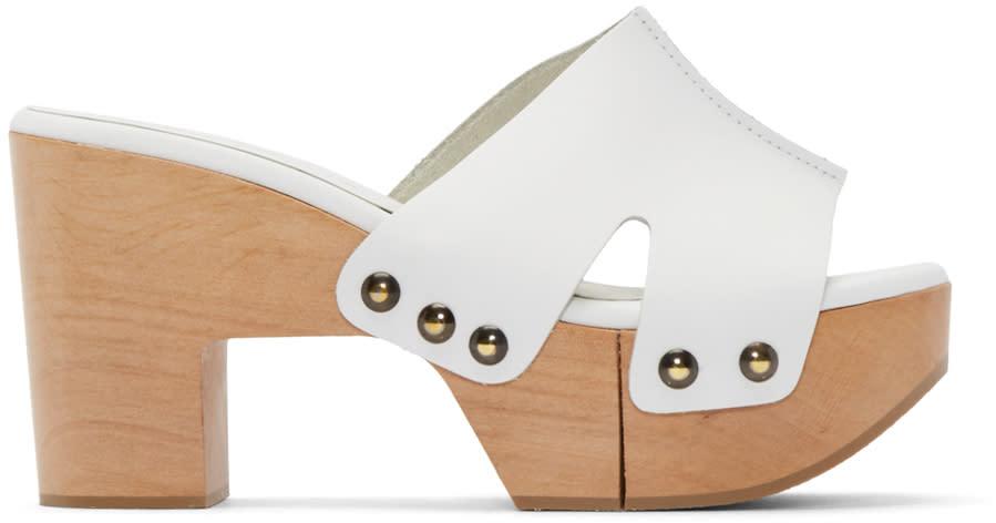 Robert Clergerie Ssense Exclusive White Cetri Clog Sandals