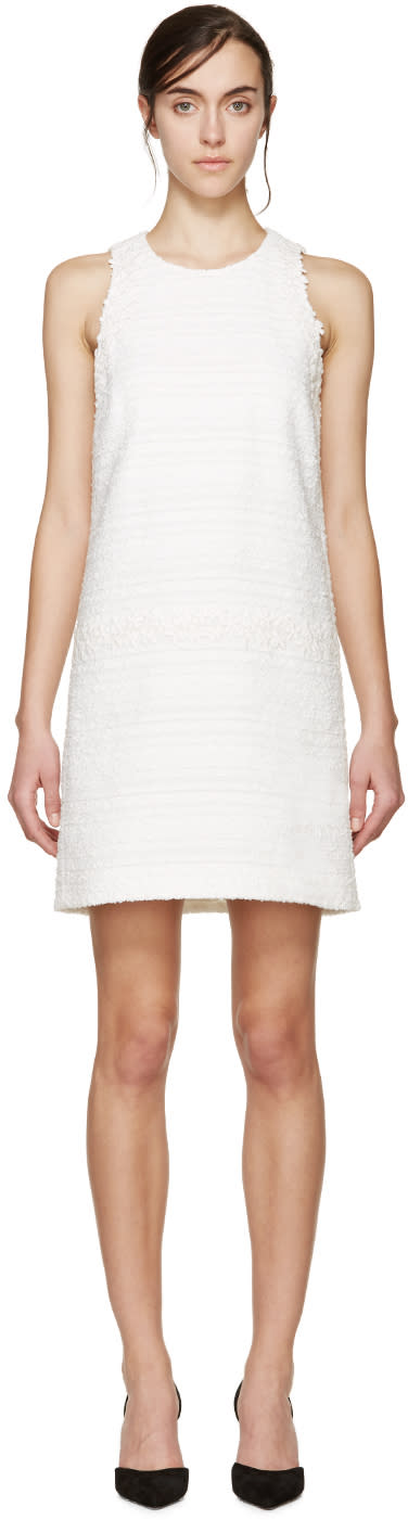 Giambattista Valli White Tweed Floral Lace Dress
