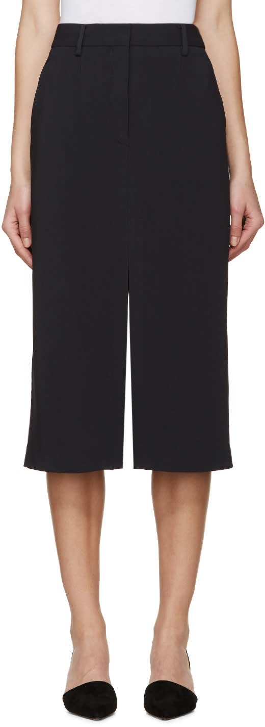 Maiyet Navy Slit Long Skirt