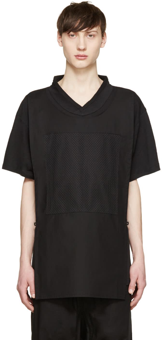D.gnak By Kang.d Black Panel T-shirt