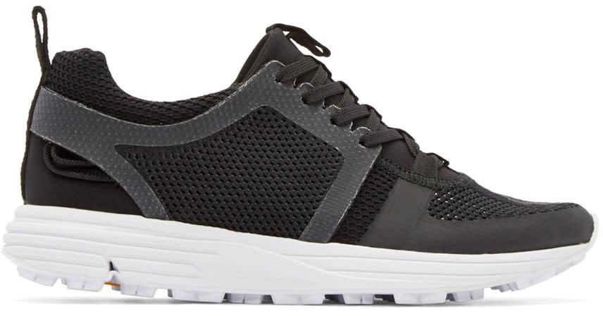 Marcelo Burlon County Of Milan Black Mesh Conchali Sneakers