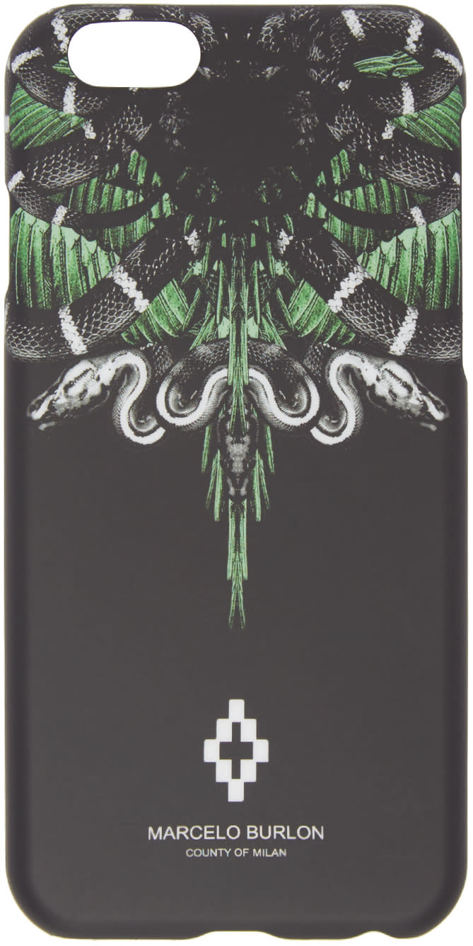Marcelo Burlon County Of Milan Black Moa Iphone 6 Case