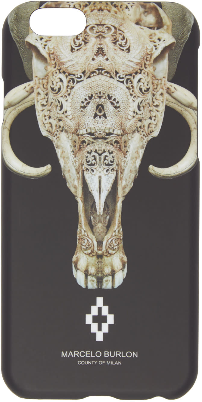 Marcelo Burlon County Of Milan Black Antofagasta Iphone 6 Case