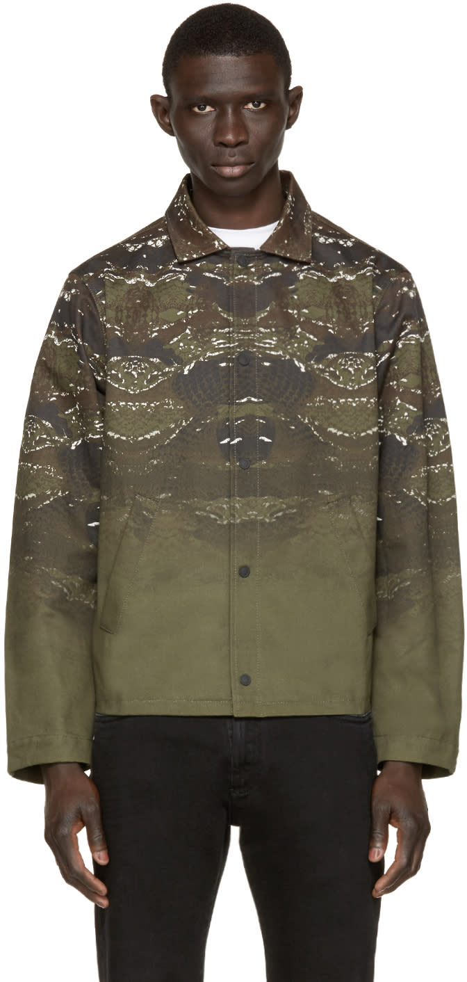 Marcelo Burlon County Of Milan Green Printed Banes Jacket
