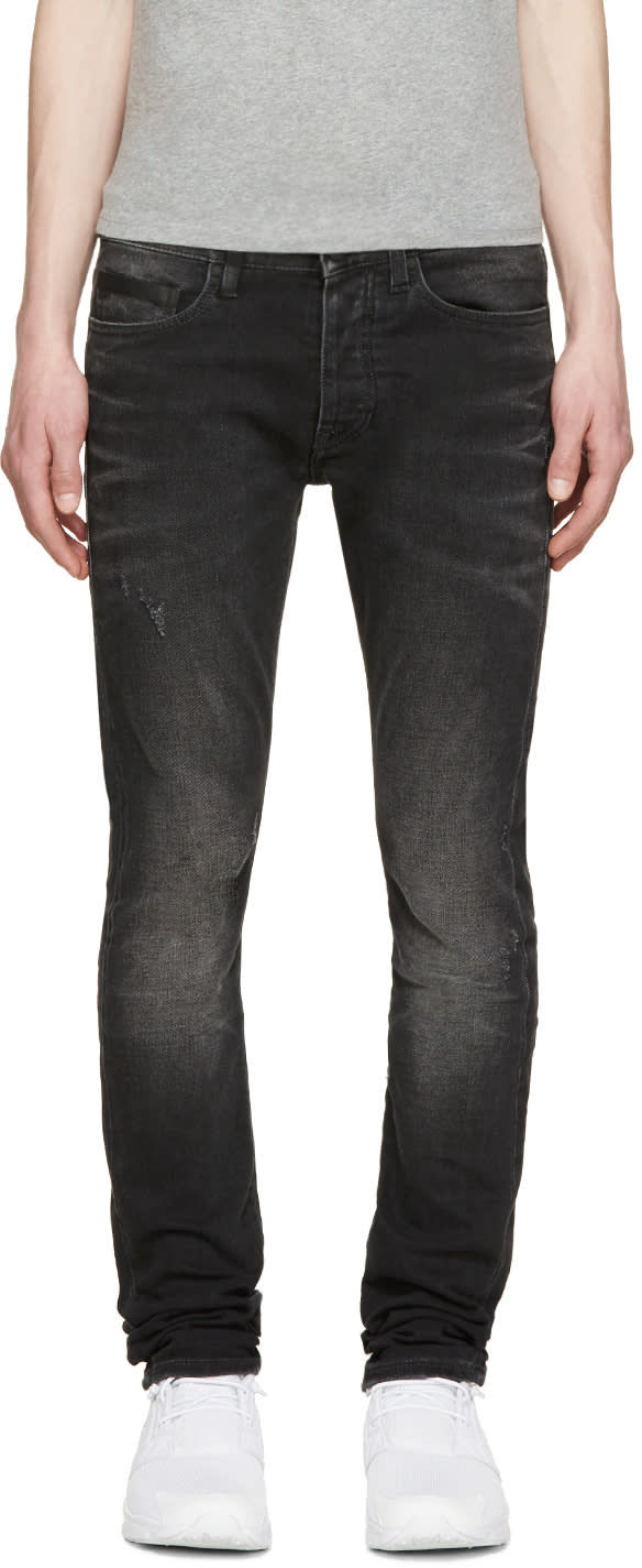 Marcelo Burlon County Of Milan Black Slim Stone Jeans