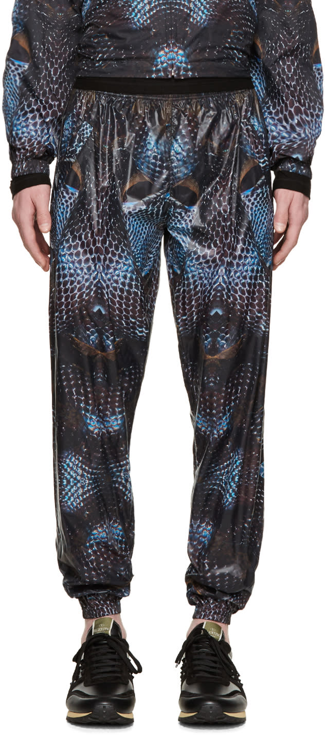 Image of Marcelo Burlon County Of Milan Black and Blue Potosi Lounge Pants