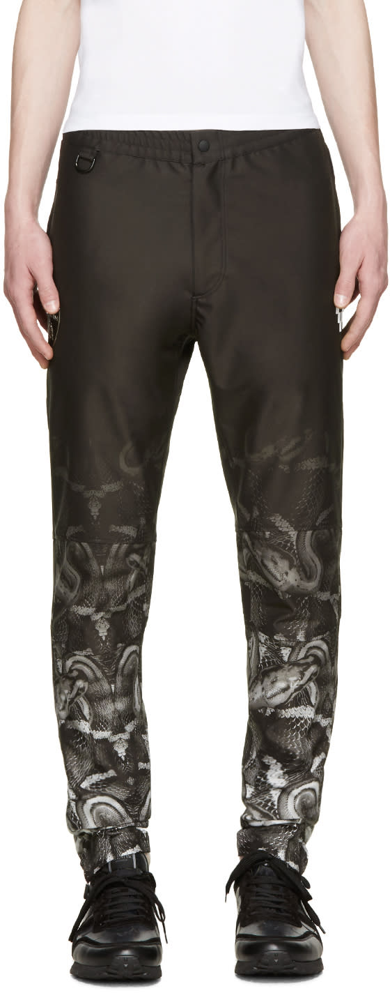 Marcelo Burlon County Of Milan Black Lamborghini Snake Trousers