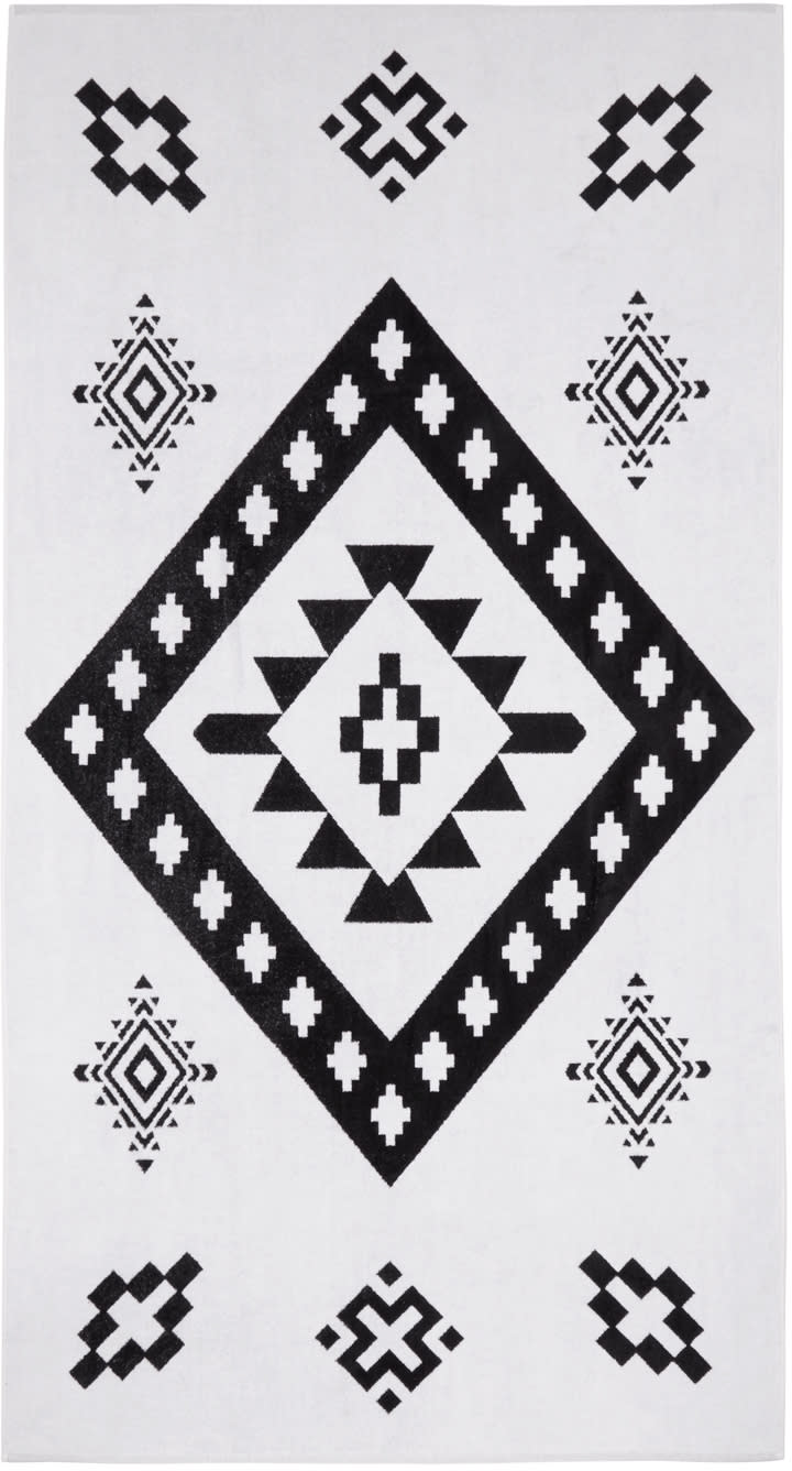 Marcelo Burlon County Of Milan White Tacuarembo Towel