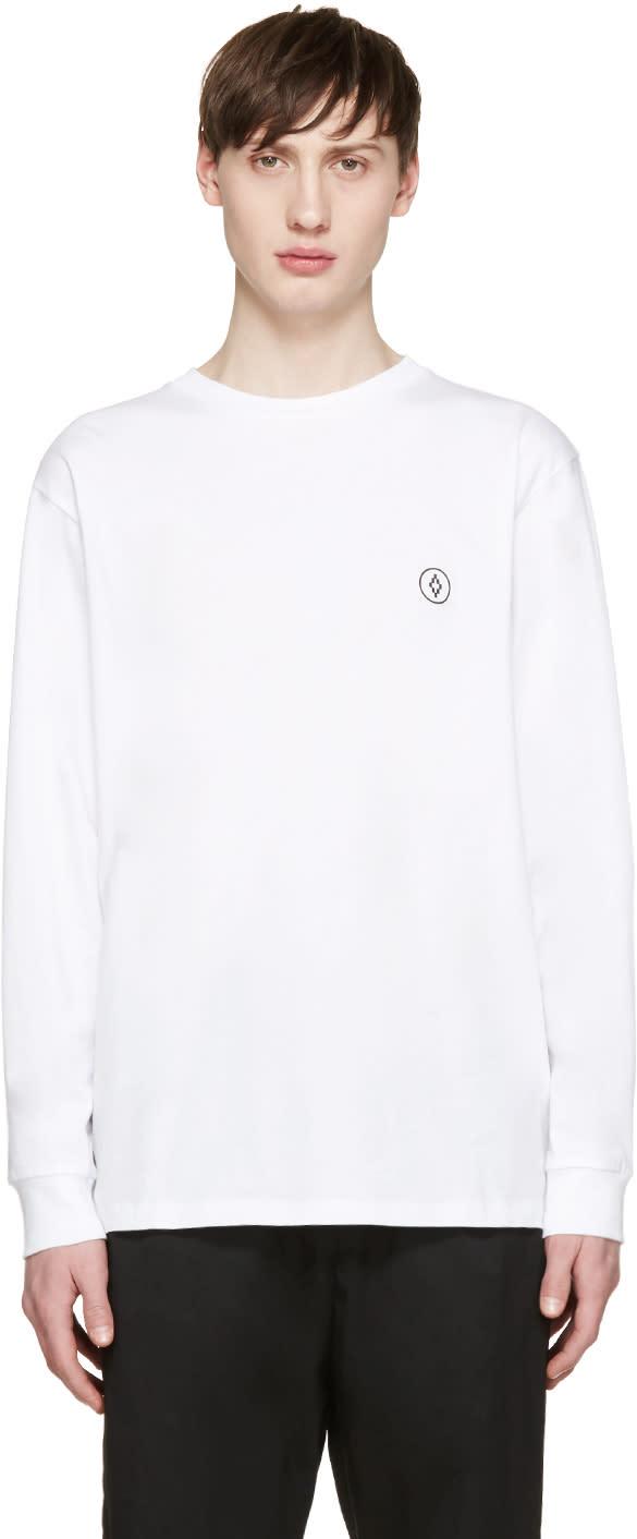 Marcelo Burlon County Of Milan White Long Sleeve Staff T-shirt