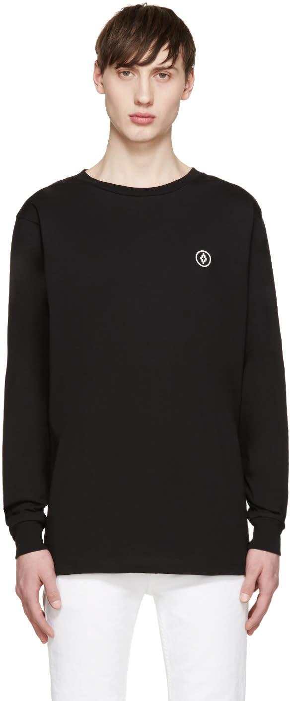 Marcelo Burlon County Of Milan Black Long Sleeve Staff T-shirt