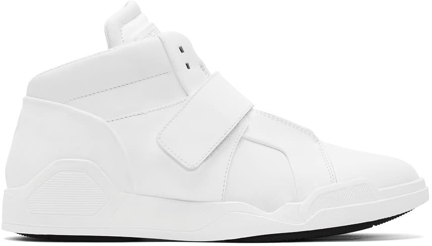 Marcelo Burlon County Of Milan White Libertad Mid-top Sneakers
