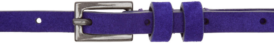 Haider Ackermann Purple Suede Sigula Belt