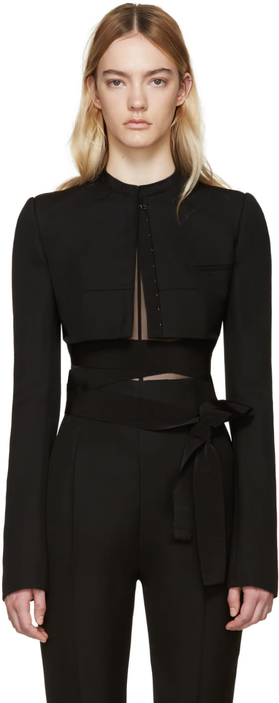 Haider Ackermann Black Cropped Orbai Jacket