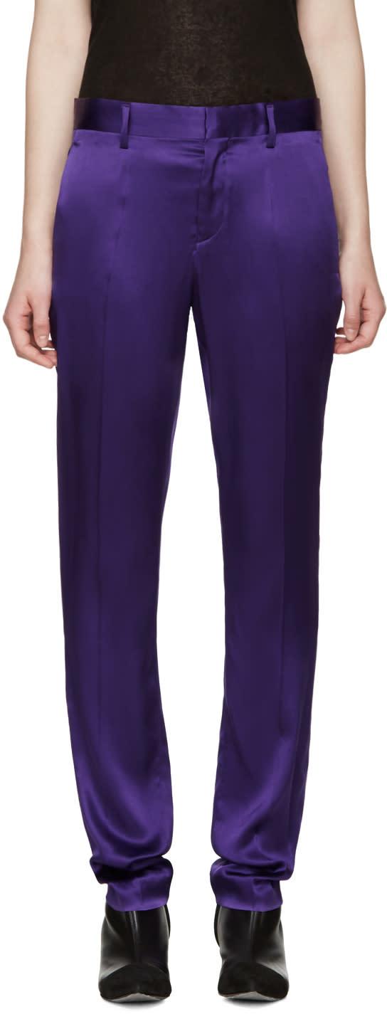 Haider Ackermann Purple Silk Iteso Trousers