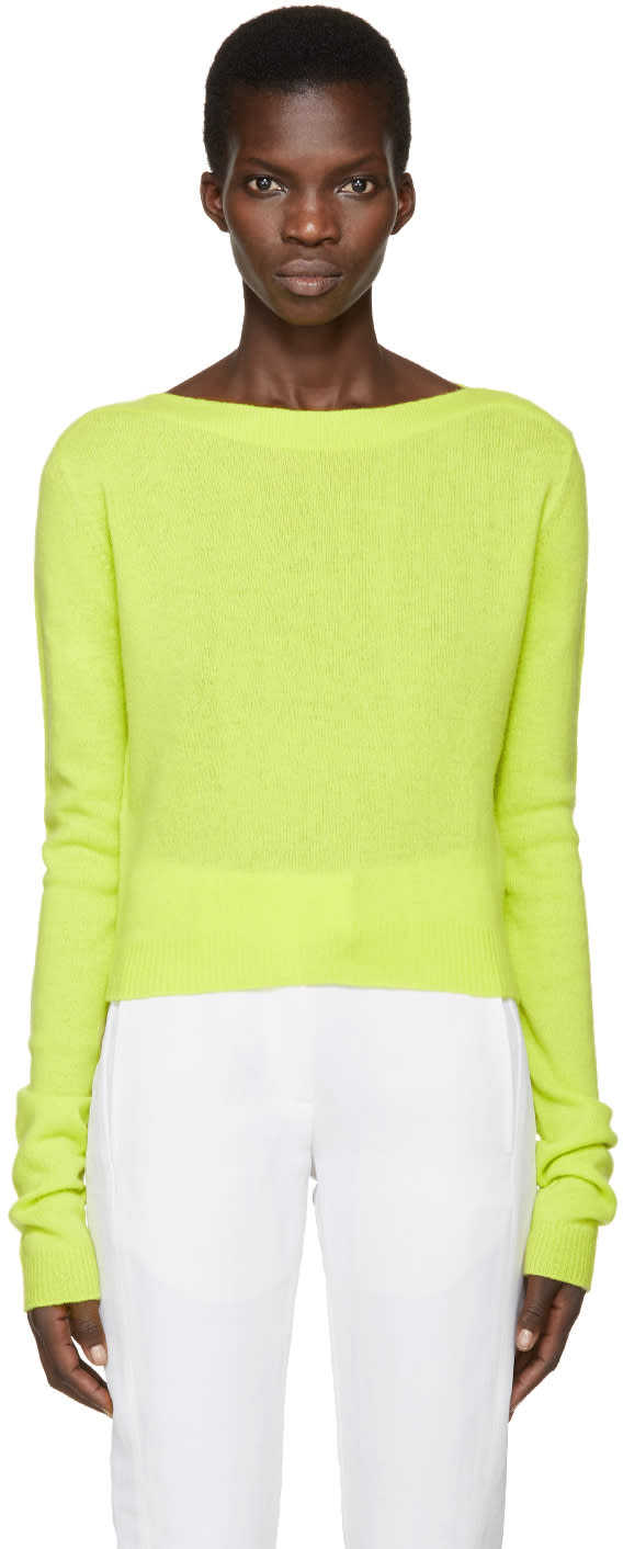 Haider Ackermann Green Invidia Sweater