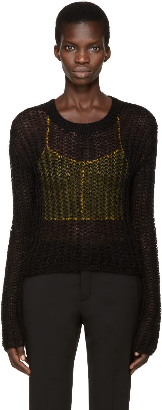 Haider Ackermann Black Open-knit Sweater