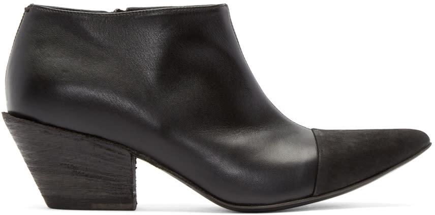Haider Ackermann Black Leather Varukers Boots