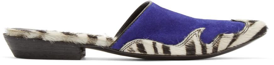 Haider Ackermann Purple Zebra Babouche Sigula Mules
