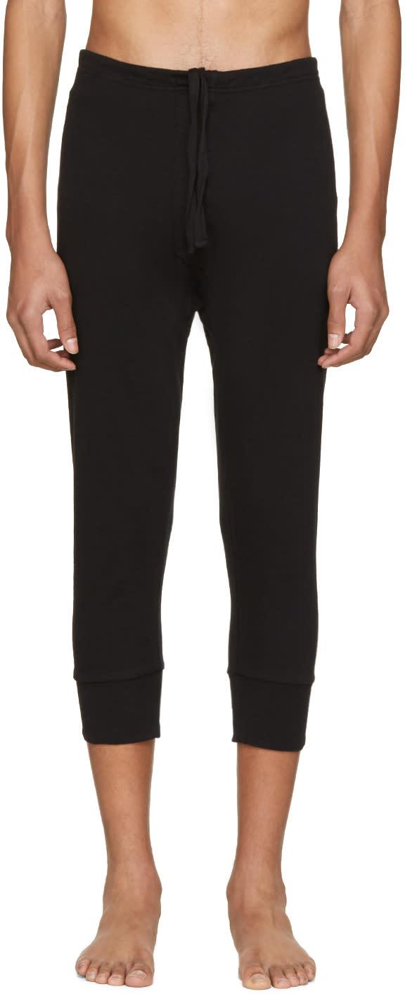 Haider Ackermann Black Long John Lounge Pants
