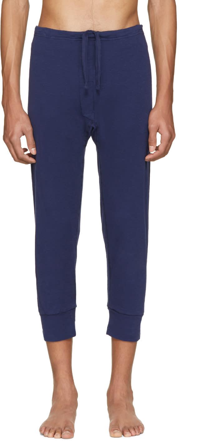 Haider Ackermann Navy Long John Lounge Pants