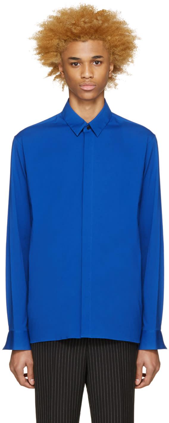 Haider Ackermann Blue Cotton Shirt