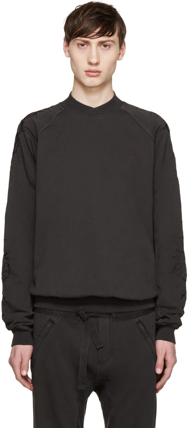 Haider Ackermann Grey Embroidered Pullover