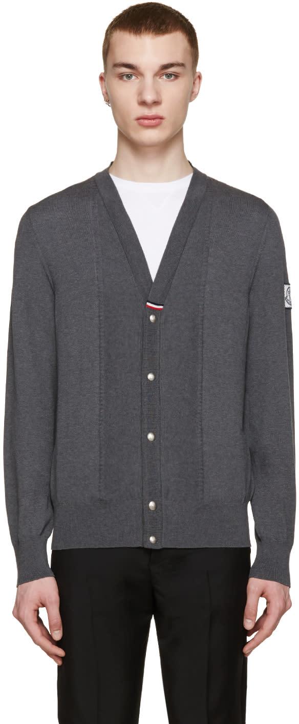 Moncler Gamme Bleu Grey Knit Cardigan