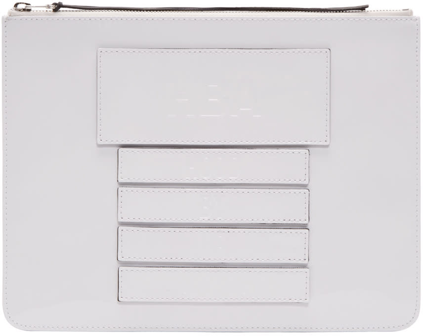 Hood By Air White Moma Velcro Pouch