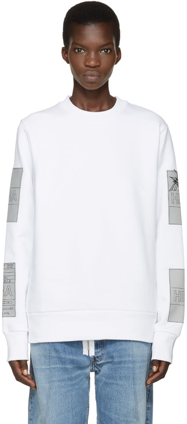Hood By Air White Jock Boxes Pullover