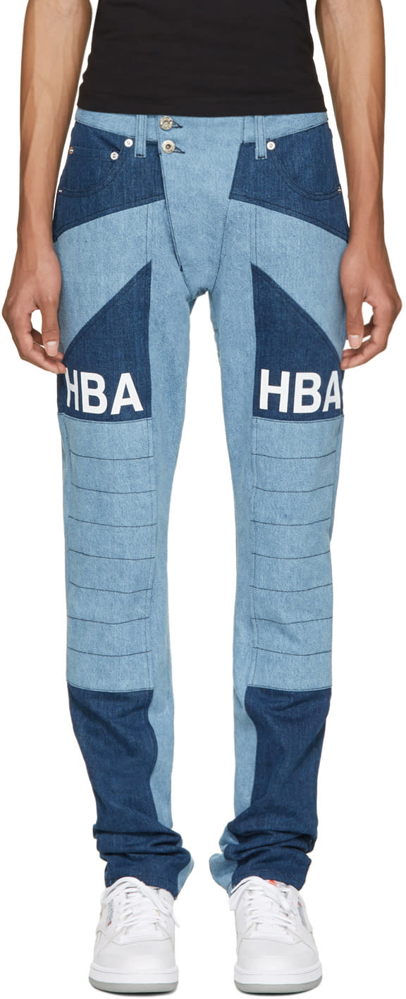 Hood By Air Blue Scuro Ormond Moto Jeans