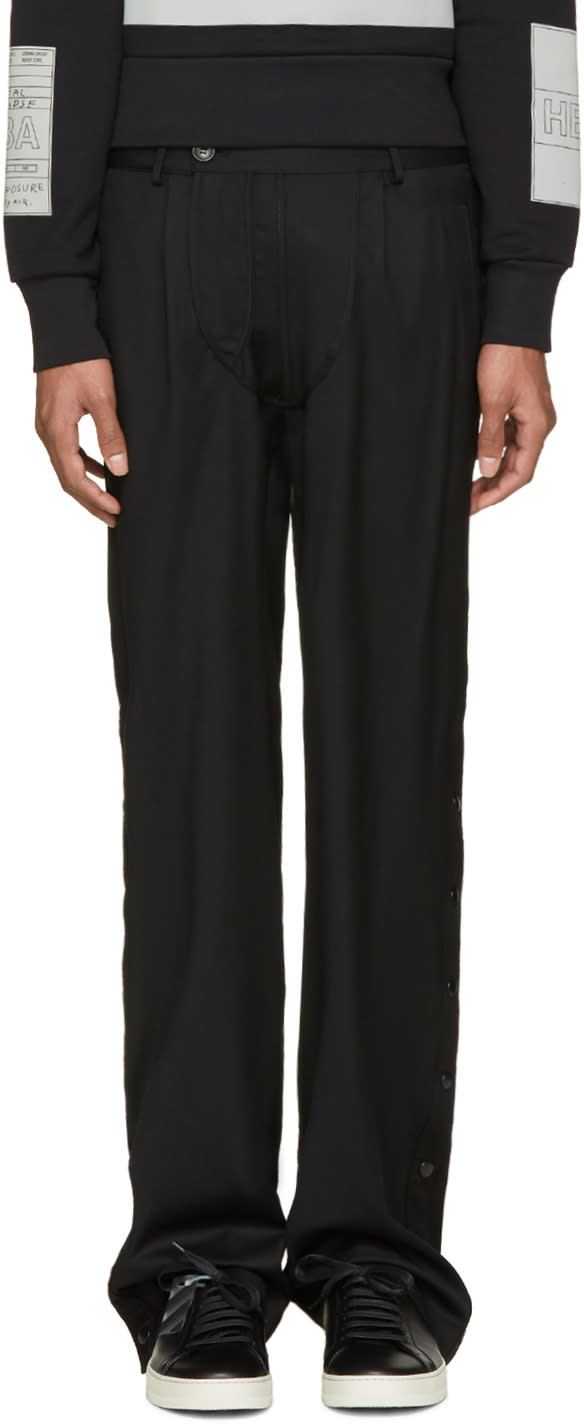 Hood By Air Pantalon Noir Suiting Snappers
