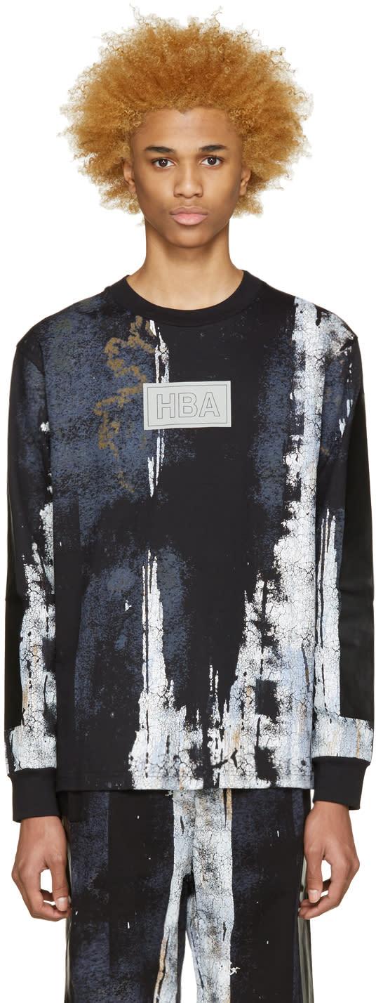 Hood By Air Black Acid Rinse T-shirt